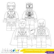 lego superheroes coloring pages superhero printable batman marvel colouring sheets