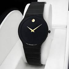 vintage movado wristwatches men s movado sapphire pvd ceramic black oynx dial very thin vintage watch rare