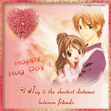 happy hug day for friends. Delighful Day Happy Hug Day 2017 A Is The Shortest Distance Between Friends Glitter With For