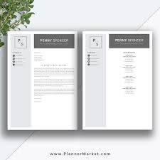 Templates Of Resumes And Cover Letters Resume Template Simple CV Template Professional Modern Resume 51