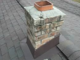 damaged masonry chimney