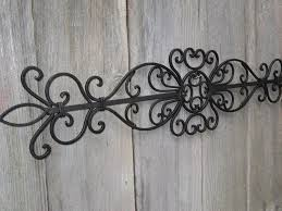incredible wall decor white wrought iron art faux wood bathroom decoration image of rustic and metal