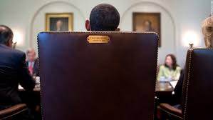 oval office chair. Obama Sits In His Chair During A Cabinet Meeting July 2012. This Image Was Oval Office