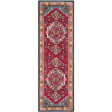 safavieh monaco red turquoise 2 ft x 12 ft runner rug