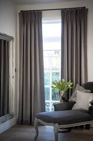 i like the subtle leading bottom edge borders on these curtains