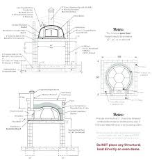 outdoor pizza oven plans diy brick fireplace and cost