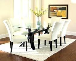small glass dining table rovigo chrome room and 4 chairs set for furniture in roo