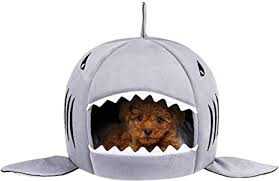 <b>Dog</b> Bed <b>Shark</b> Covered Cave House for Small Puppy <b>Cats</b> up to ...