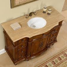 single white bathroom vanities. 48 Inch Travertine Stone Top Bathroom Single Vanity White Vanities