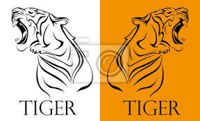 Fototapeta Tetování Tygr Logotyp