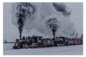 """Пазл 73.5 x 48.8 (1000 элементов) """"Поезд"""" #1334504 от ..."""