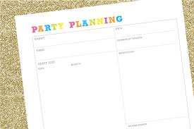 Party Planning Checklist Free Printable Party Planner