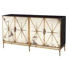 hollywood regency mirrored furniture. Hollywood Regency Mirrored Furniture Adalyn Antique Mirror Gold Black 4 Door B