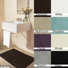 Bathroom Rugs Set Canvas Backed Solid Colored Cotton Casual 20 X 34 Bath Rugs Set