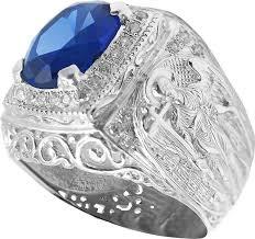 Мужская серебряная печатка перстень <b>Маршал KM</b>-141/3-<b>sinij</b> ...