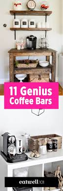 Neutral taupe professional coffee display. 11 Genius Ways To Diy A Coffee Bar At Home Eatwell101