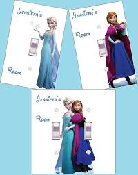 Frozen Light Switch Cover Elsa And Or Anna Personalized Frozen Princess Light Switch