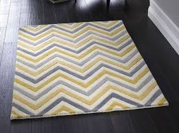 cabone yellow grey rug