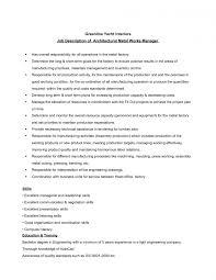 Magnificent Assembler Job Description For Resume Templates