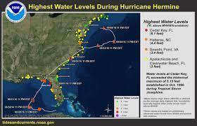 Tide Chart For Cedar Key Florida Highest Water Levels During Hurricane Hermine