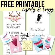 Free Printable Favor Tags Free Printable Thank You Cards And Tags For Favors And Gifts