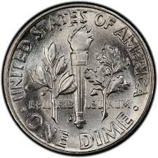 1959 Roosevelt Dime Values And Prices Past Sales