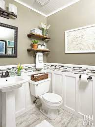 Budget Friendly Tips For Renovating A Powder Room Small Bathroom Decor Small Bathroom Remodel Small Bathroom Renovation
