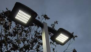 Public Post LED Street Lights Sign Thefts The Mirror Theatre - Commercial exterior led lighting