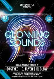 glow flyer glowing sounds psd flyer template 10526 styleflyers