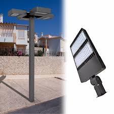outdoor 90 260v 200w 300w street garage parking lot lamp fixture energy efficient led
