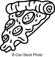 pizza slice clipart black and white. Contemporary Clipart Hot Cartoon Pizza Slice With Clipart Black And White O