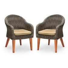 wicker patio dining chairs. Modren Wicker Wood U0026 Wicker Patio Dining Chairs Intended E