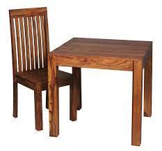 Wohnling Esstisch Mumbai Massivholz Sheesham 80 Cm Esszimmer Tisch Holztisch Design Küchentisch Landhaus Stil Dunkel Braun