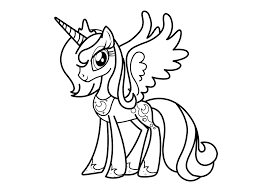 my little pony coloring pages princess celestia in a dress