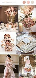Dusty Rose Rose Gold And Ivory Luxury Wedding Party Ideas