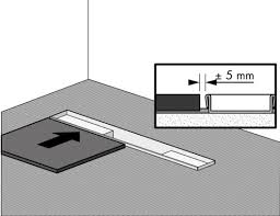 create slope and leave some space for sealing joint