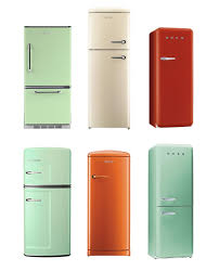 refrigerator vintage look. above is a collection of vintage style refrigerators from big chill, gorenje and smeg. refrigerator look