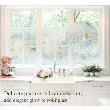 Stained Glass Window Film Non Adhesive Static Vinyl Window Films
