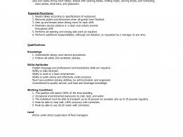 Table Busser Job Description Banquet Server Resume Examples