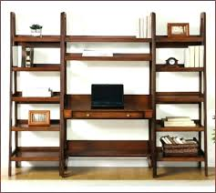bookshelves with desk leaning and bookcase large size of espresso shelf wall target ikea hack