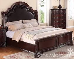 3 pc sheridan queen bedroom collection traditional cherry furniture set