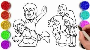 Normal mode strict mode list all children. Doraemon Coloring Pages Coloring Painting Doraemon Nobita Shizuka Giant Suneo Youtube