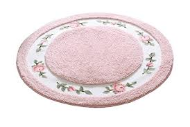 jsj cheng round soft cute rose fl microfiber bathroom area rugats for bathroom bedroom kitchen 27 5 inch diameter pink