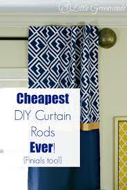 Diy Curtain Rods Diy Curtain Rods Ever Finials Too