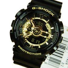 imported casio g shock ga110gb full black golden dial sports watch for men