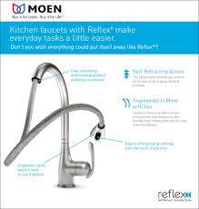 Repair Moen Kitchen Faucet Moen Chateau Kitchen Faucet Moen Moen S7170 90 Degree Higharc