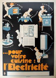 Original Vintage Posters  U003e Advertising Posters  U003e Electricity For Your  Kitchen Art Deco   AntikBar