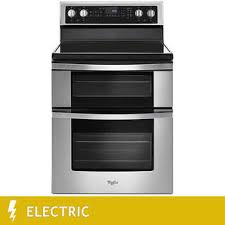 Whirlpool 67CuFt ELECTRIC Double Oven Range With True Convection Cooking In Stainless Steel