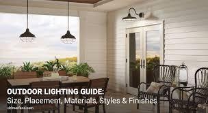 how to choose outdoor lighting garage