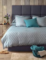 teasels teal cotton bedding set
